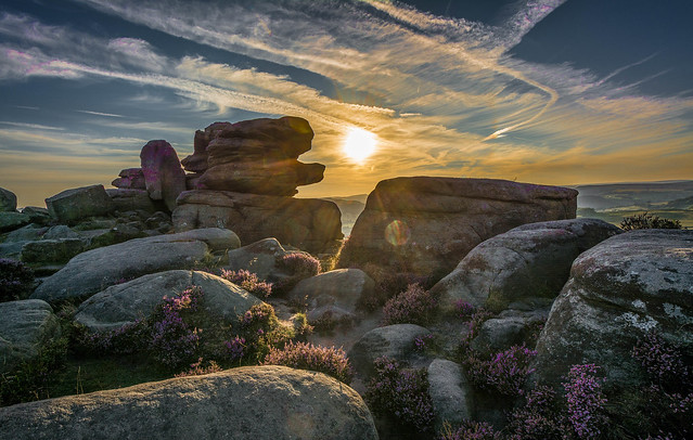 Sunset, at Over Owler Tor